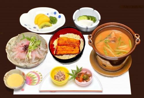 花コース(小丼、料理寄せ、再トリミング、色調再補正)